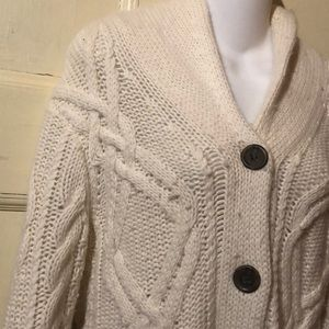 J. Crew Wool White Cardigan